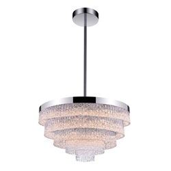"""32"""" 12 Light Down Chandelier with Chrome finish"""