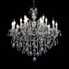 "Picture of 32"" 15 Light Up Chandelier with Chrome finish"
