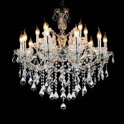 """32"""" 15 Light Up Chandelier with Chrome finish"""
