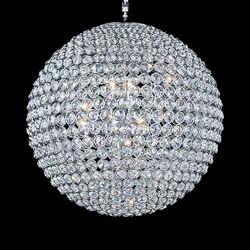 """32"""" 20 Light  Chandelier with Chrome finish"""