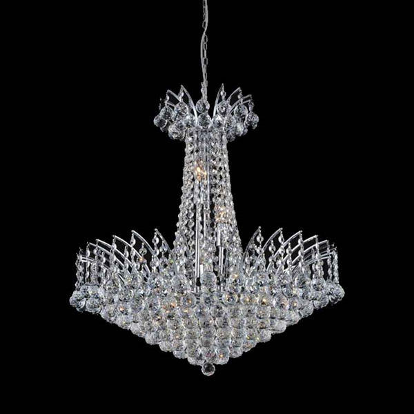 """Picture of 32"""" 22 Light Down Chandelier with Chrome finish"""
