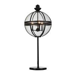"""32"""" 3 Light Table Lamp with Black finish"""