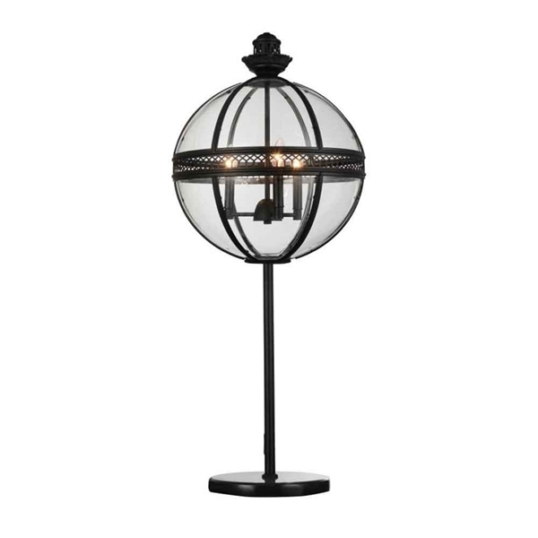 "Picture of 32"" 3 Light Table Lamp with Black finish"