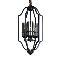 """32"""" 3 Light Up Chandelier with Black finish"""