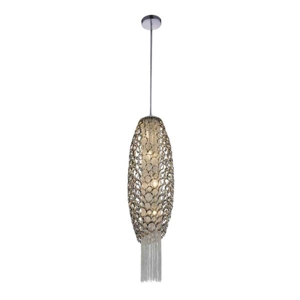"Picture of 32"" 4 Light Down Mini Pendant with Chrome finish"