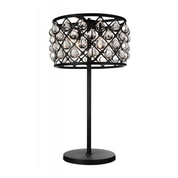 "32"" 4 Light Table Lamp with Black finish"