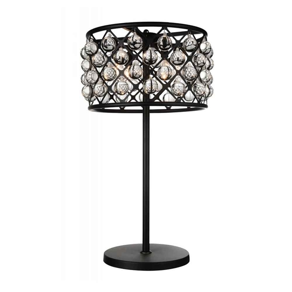 "Picture of 32"" 4 Light Table Lamp with Black finish"