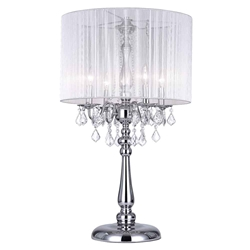 "32"" 4 Light Table Lamp with Chrome finish"