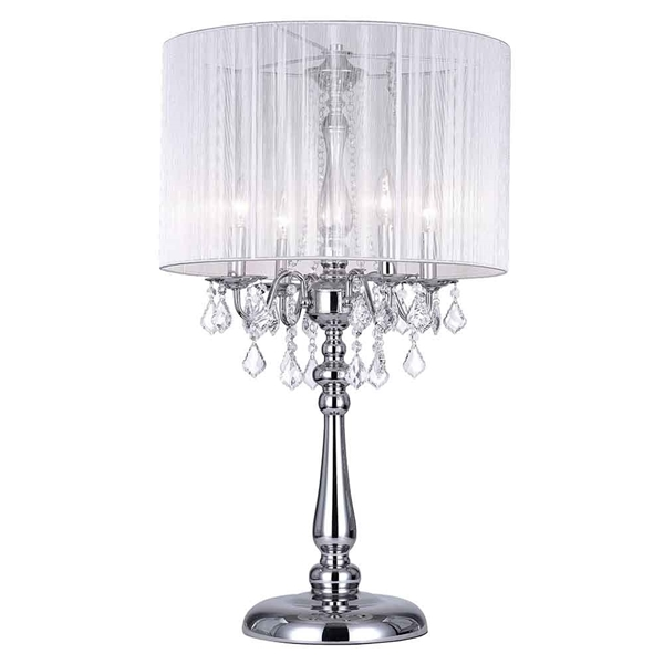 "Picture of 32"" 4 Light Table Lamp with Chrome finish"