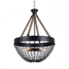 "Picture of 32"" 5 Light Down Chandelier with Antique Black finish"