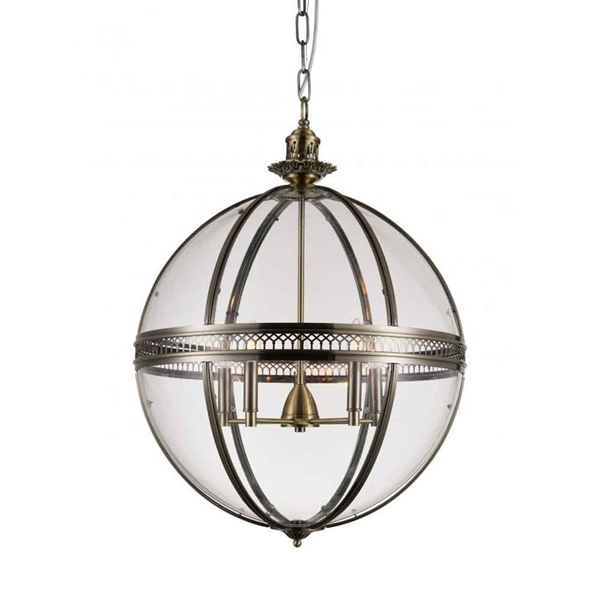 "Picture of 32"" 5 Light Up Chandelier with Bronze finish"