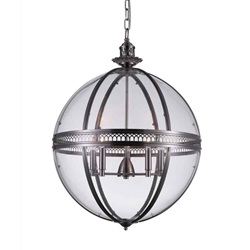 """32"""" 5 Light Up Chandelier with Satin Nickel finish"""