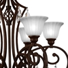 "Picture of 32"" 6 Light Candle Chandelier with Dark Bronze finish"