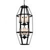 "Picture of 32"" 6 Light Candle Pendant with Black finish"