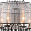 "Picture of 32"" 6 Light Drum Shade Chandelier with Chrome finish"