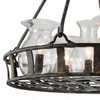 "Picture of 32"" 6 Light Up Chandelier with Antique Black finish"