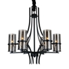 """Picture of 32"""" 6 Light Up Chandelier with Black finish"""