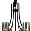 "Picture of 32"" 6 Light Up Chandelier with Black finish"