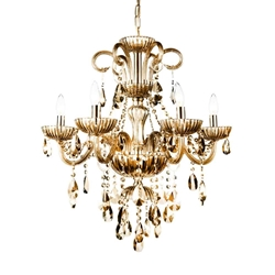 """32"""" 6 Light Up Chandelier with Chrome finish"""