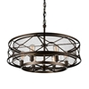 "Picture of 32"" 6 Light Up Chandelier with Light Brown finish"