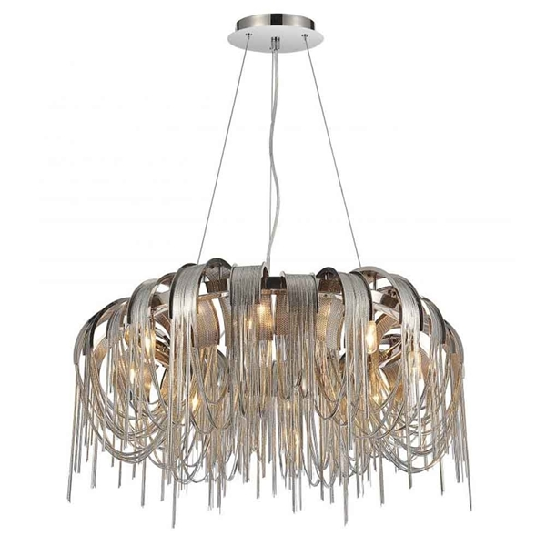 "Picture of 32"" 8 Light Down Chandelier with Chrome finish"