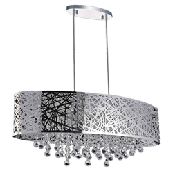 """32"""" 8 Light Drum Shade Chandelier with Chrome finish"""