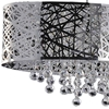 "Picture of 32"" 8 Light Drum Shade Chandelier with Chrome finish"
