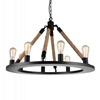 "Picture of 32"" 8 Light Up Chandelier with Black finish"