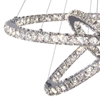 "Picture of 32"" Anelli Modern Crystal Round Triple Ring Chandelier Polished Chrome 74 LED Lights"