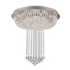 "Picture of 32"" Chateaux Modern Foyer Crystal Chandelier Mirror Stainless Steel Base 13 Lights"
