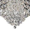 """Picture of 32"""" Chateaux Modern Round Crystal Flush Mount Ceiling Lamp Mirror Stainless Steel Base 12 Lights"""