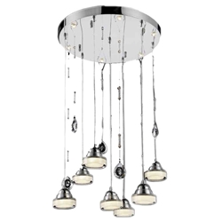"""32"""" LED Down Chandelier with Chrome finish"""