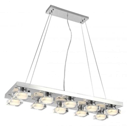 "32"" LED Down Pendant with Chrome finish"