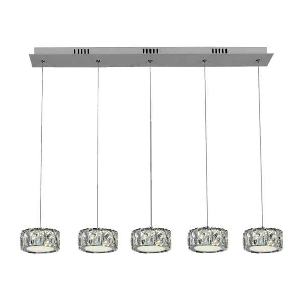 "Picture of 32"" LED Multi Light Pendant with Chrome finish"