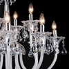 "Picture of 33"" 12 Light Up Chandelier with Chrome finish"