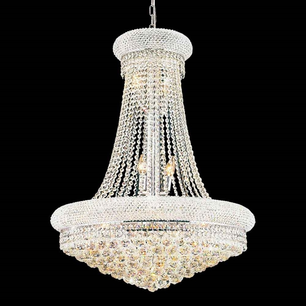 "Picture of 33"" 18 Light Down Chandelier with Chrome finish"