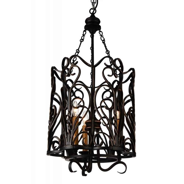 """Picture of 33"""" 3 Light Up Chandelier with Autumn Bronze finish"""