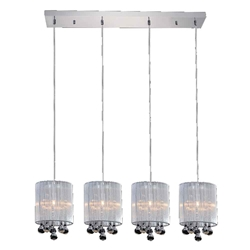 "33"" 4 Light Multi Light Pendant with Chrome finish"