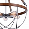 """Picture of 33"""" 5 Light Down Chandelier with Chrome finish"""