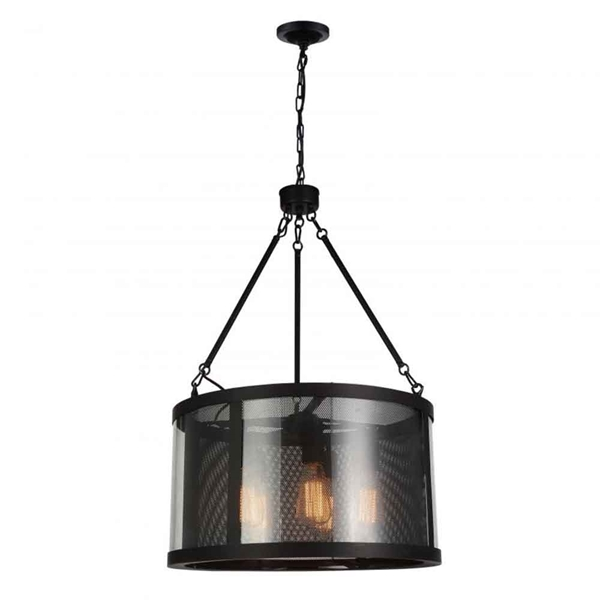 "Picture of 33"" 5 Light Down Pendant with Reddish Brown finish"