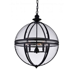 """33"""" 5 Light Up Chandelier with Black finish"""