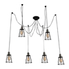 "Picture of 33"" 6 Light Multi Light Pendant with Chocolate finish"