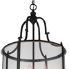 "Picture of 33"" 8 Light Drum Shade Chandelier with Oil Rubbed Bronze finish"