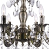 "Picture of 33"" 8 Light Up Chandelier with Antique Brass finish"