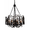 """Picture of 33"""" 8 Light Up Chandelier with Autumn Bronze finish"""