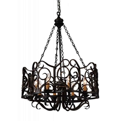 """33"""" 8 Light Up Chandelier with Autumn Bronze finish"""