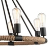 """Picture of 33"""" 8 Light Up Chandelier with Black finish"""