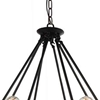 "Picture of 33"" 8 Light Up Chandelier with Black finish"