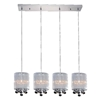 """Picture of 33"""" Gocce Modern String Shade Linear Round Mini Pendants Black White Silver 4 Lights"""