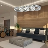 """Picture of 33"""" LED  Chandelier with Chrome finish"""